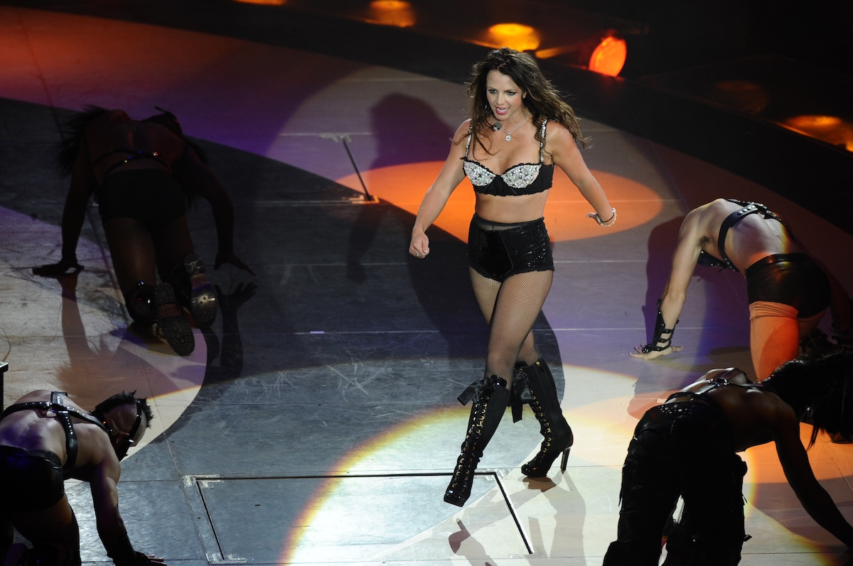 American singer Britney Spears on tour