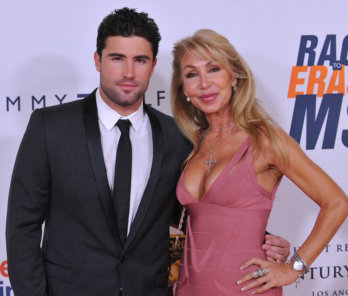 Brody Jenner and Linda Thompson in 2010