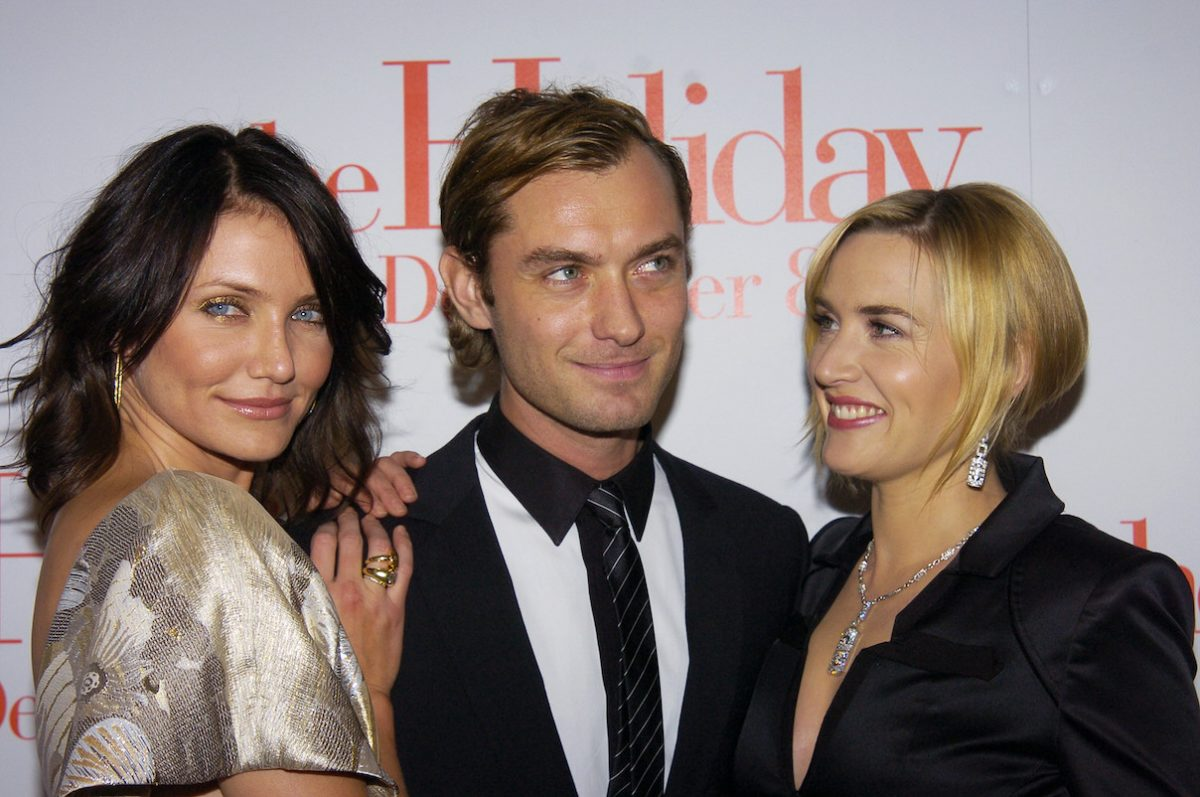 Jude Law, Cameron Diaz, Kate Winslet, and Nancy Meyers at the premiere of 'The Holiday'