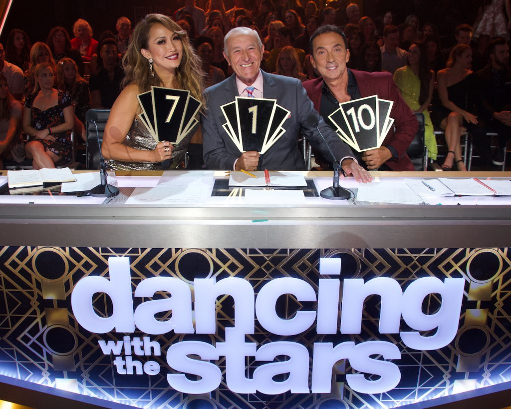 Carrie Ann Inaba, Len Goodman, and Bruno Tonioli of 'Dancing With the Stars'