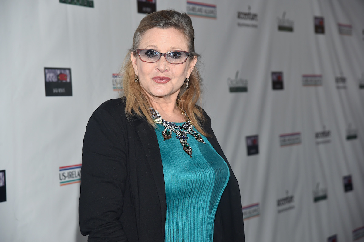 Carrie Fisher at the US-Ireland Alliance's Oscar Wilde Awards event