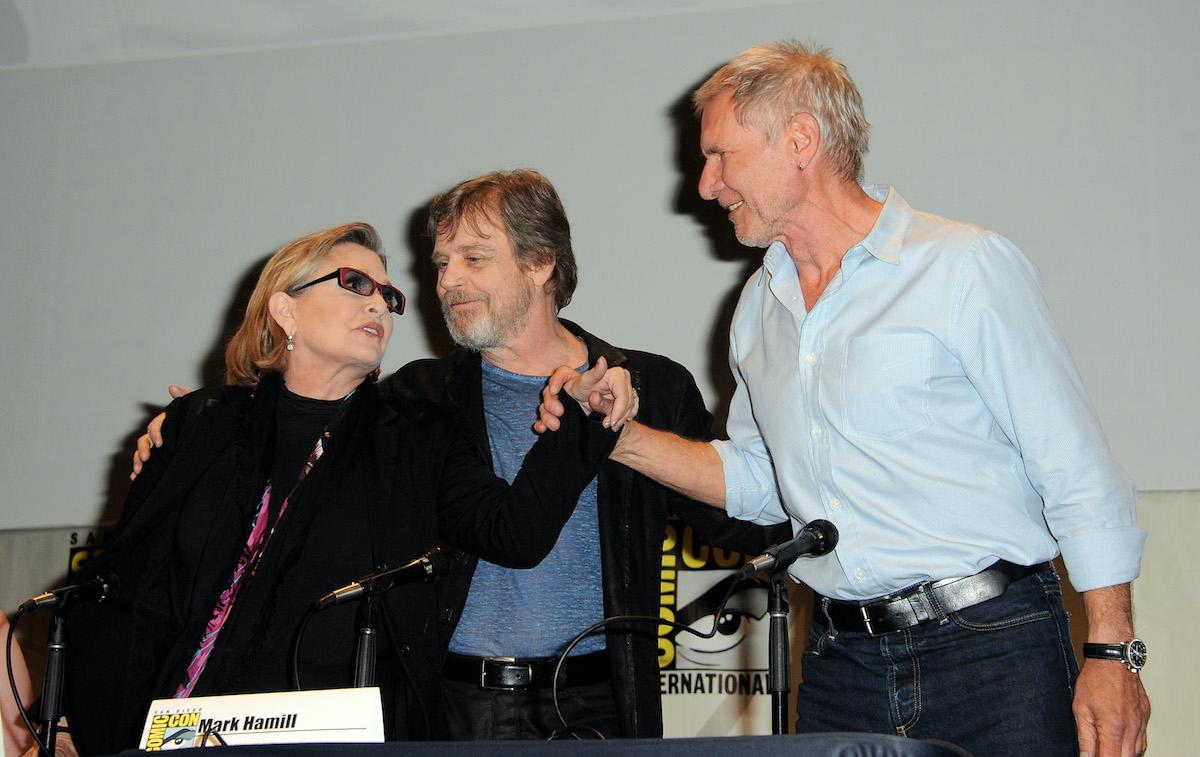 Carrie Fisher, Mark Hamill, and Harrison Ford