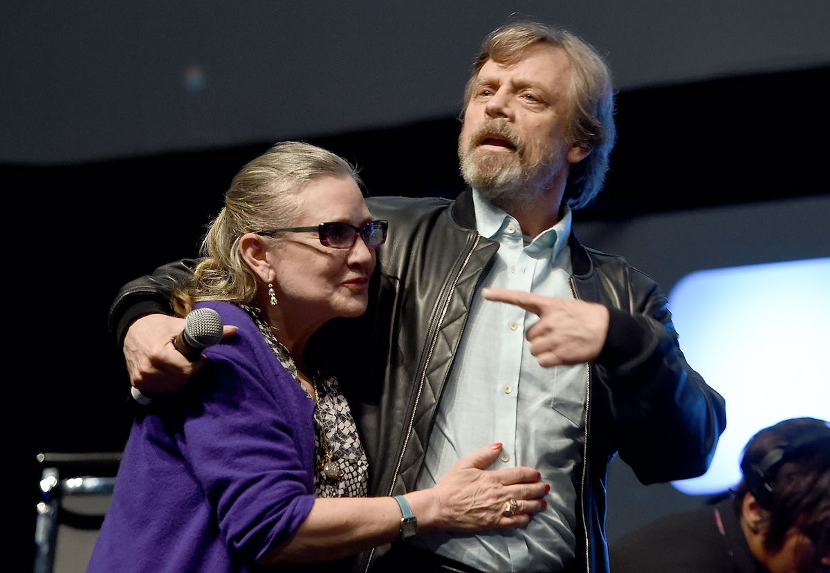 Mark Hamill and Carrie Fisher at Star Wars Celebration 2016