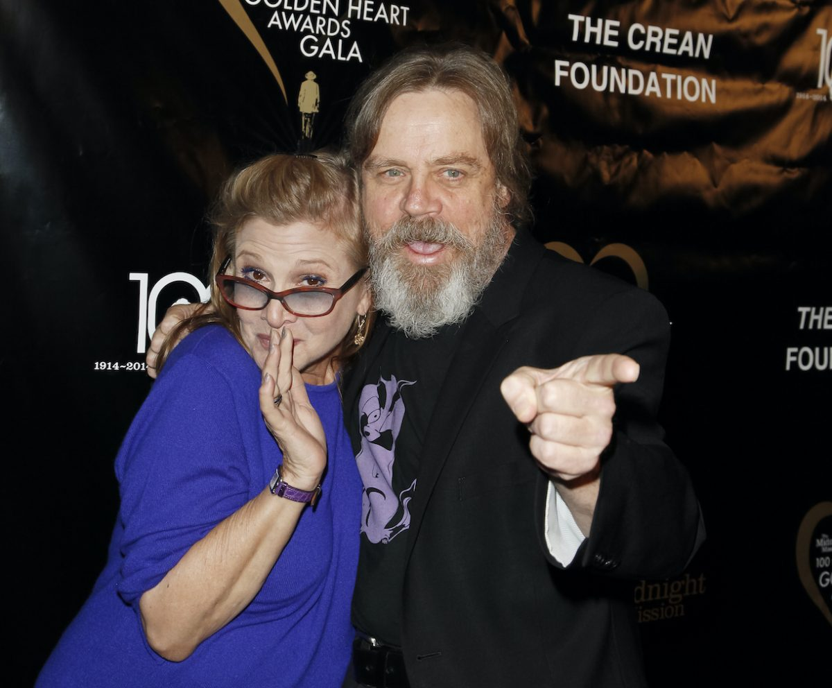 Carrie Fisher and Mark Hamill in 2014