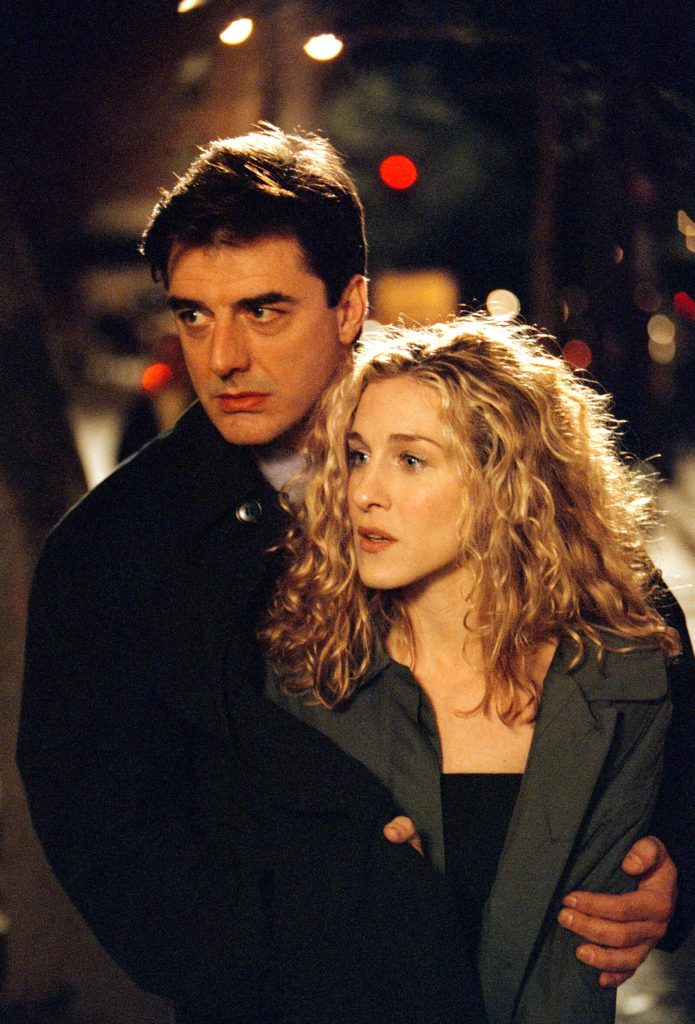 Chris Noth as Mr. Big and Sarah Jessica Parker as Carrie Bradshaw