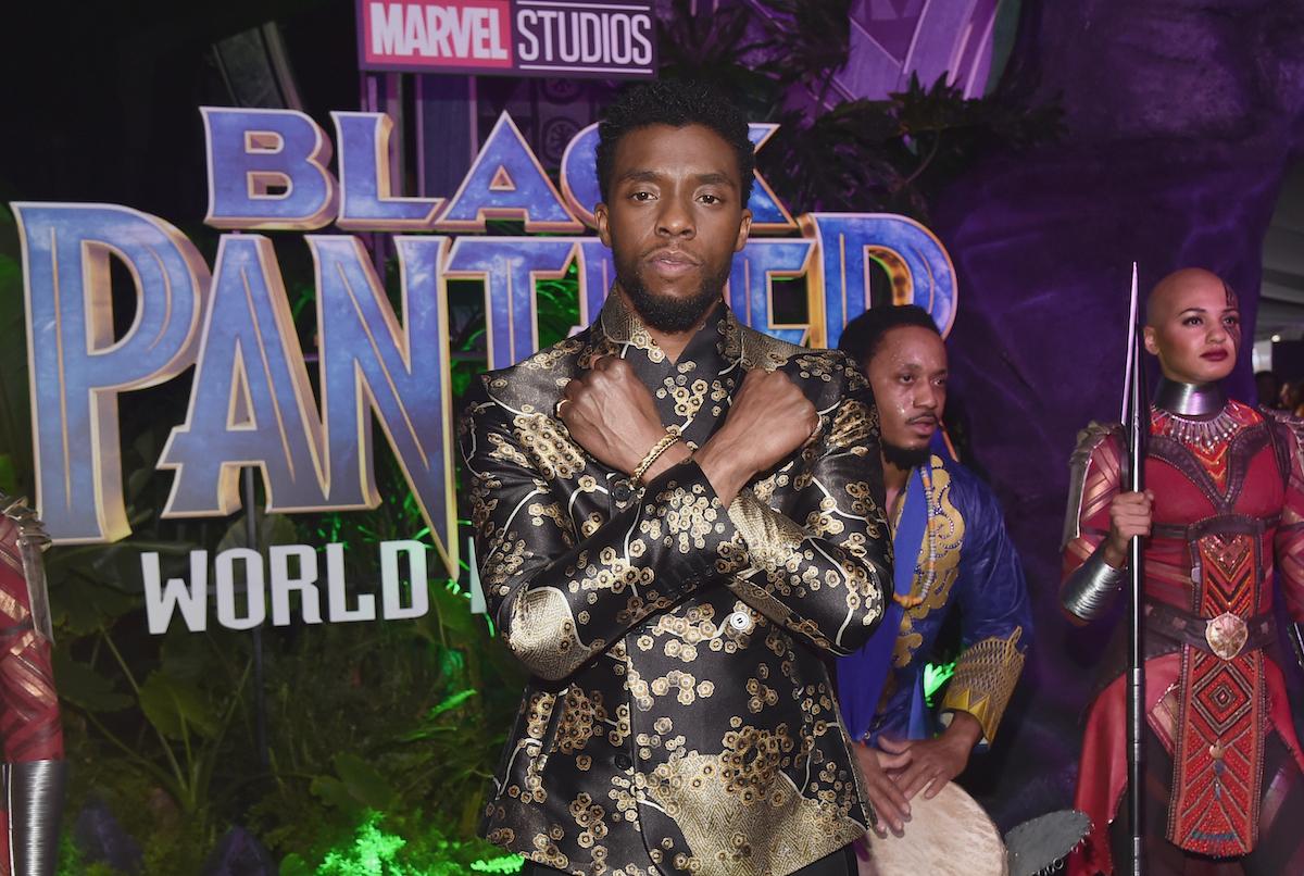 Chadwick Boseman at the 'Black Panther' premiere