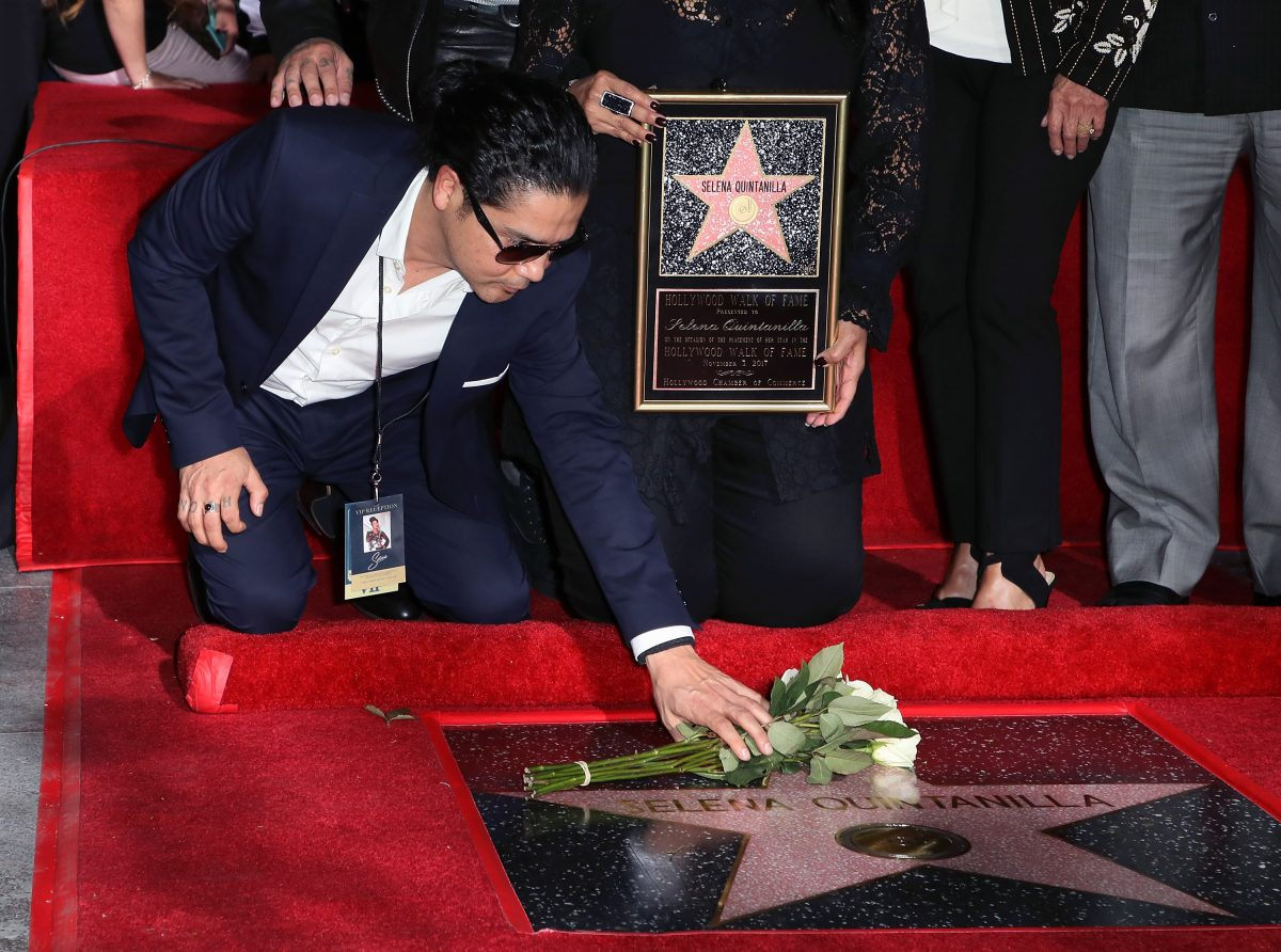 : Musician/Selena's widower Chris Perez attends singer Selena Quintanilla being honored posthumously with a Star on the Hollywood Walk of Fame on November 3, 2017 in Hollywood, California.