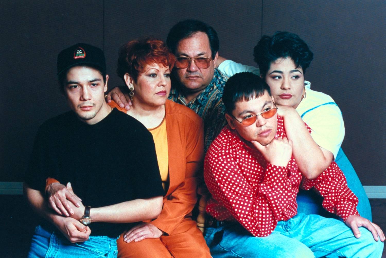 Family of late tejano singer Selena who was shot by her former fan club pres. Yolanda Saldivar: husband Chris Perez, parents Marcela & Abraham Quintanilla, & siblings A.B. & Suzette.