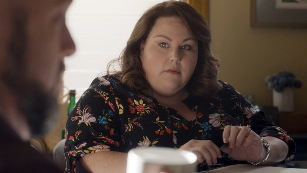 Chris Sullivan as Toby and Chrissy Metz as Kate Pearson on 'This Is Us' Season 5 Episode 4
