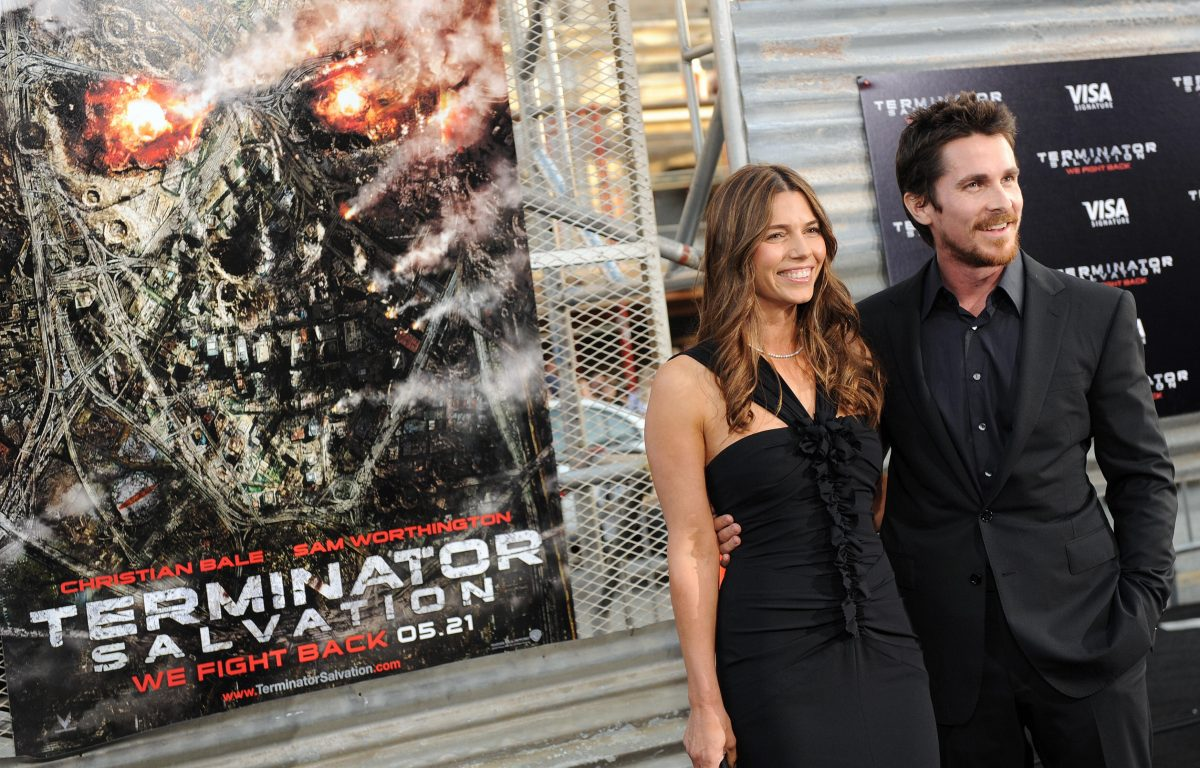 Sibi Blazic and Christian Bale arrive at the premiere of the Warner Bros. movie 'Terminator Salvation.'