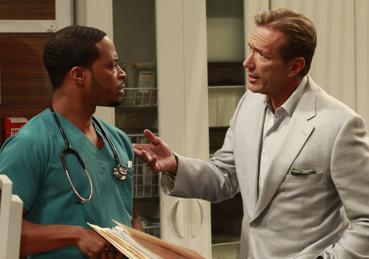 Cornelius Smith Jr. and Walt Willey in All My Children