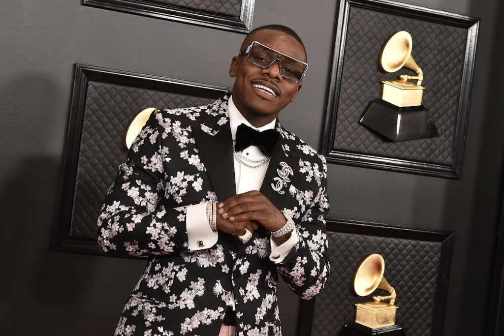 DaBaby attends the 62nd Annual Grammy Awards at Staples Center on January 26, 2020 in Los Angeles, CA.