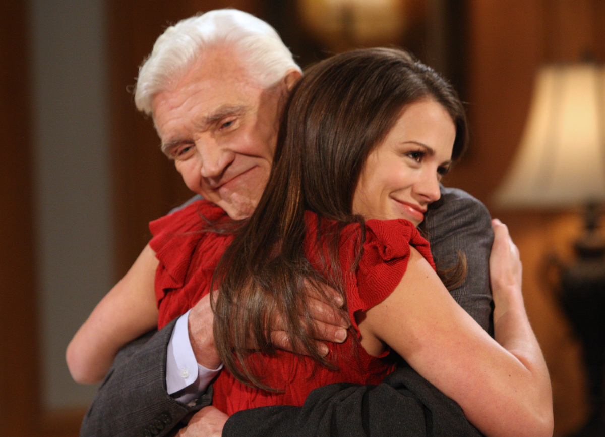 David Canary and Melissa Claire Egan in All My Children
