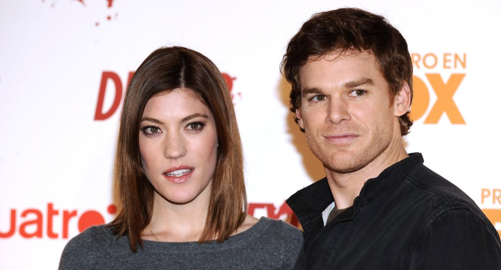 Jennifer Carpenter and Michael C. Hall on red carpet for 'Dexter' before season 9