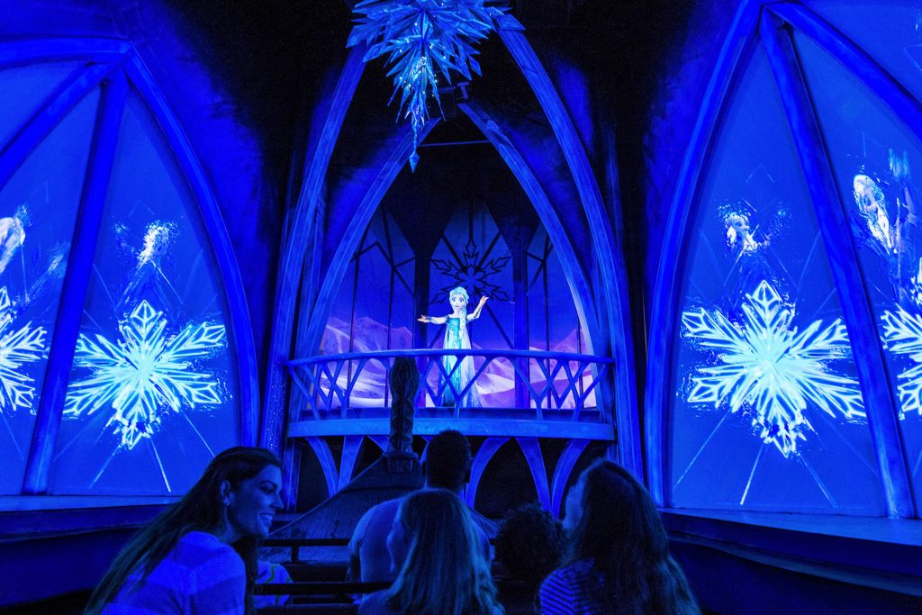 The Walt Disney World attraction based on 'Frozen,' titled 'Frozen Ever After'