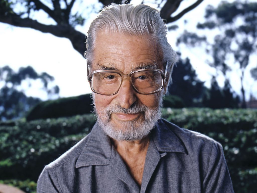 Theodore Geisel better known as Dr. Seuss poses for a portrait in December 1985 in Los Angeles, California | Aaron Rapoport/Corbis/Getty Images