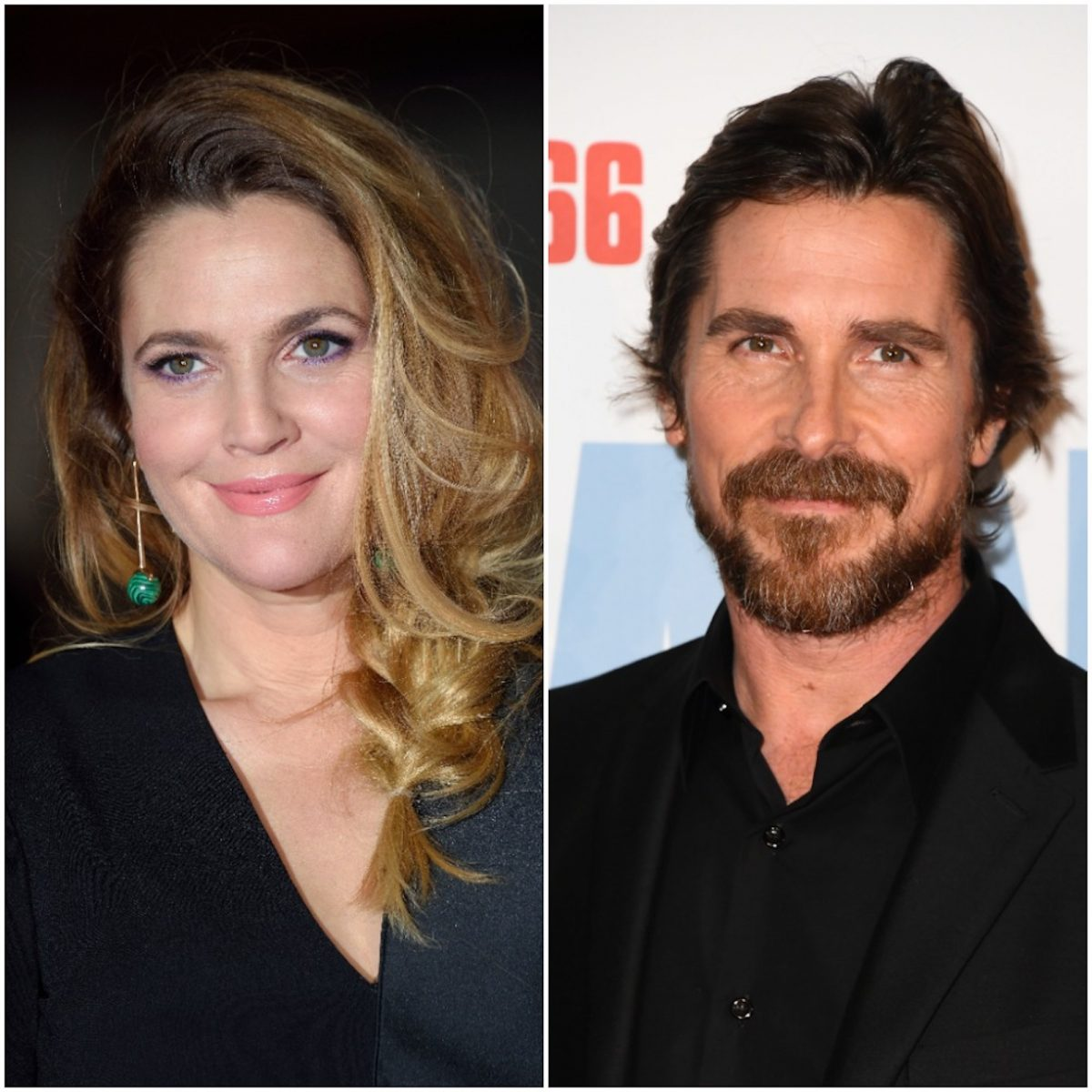 Drew Barrymore and Christian Bale