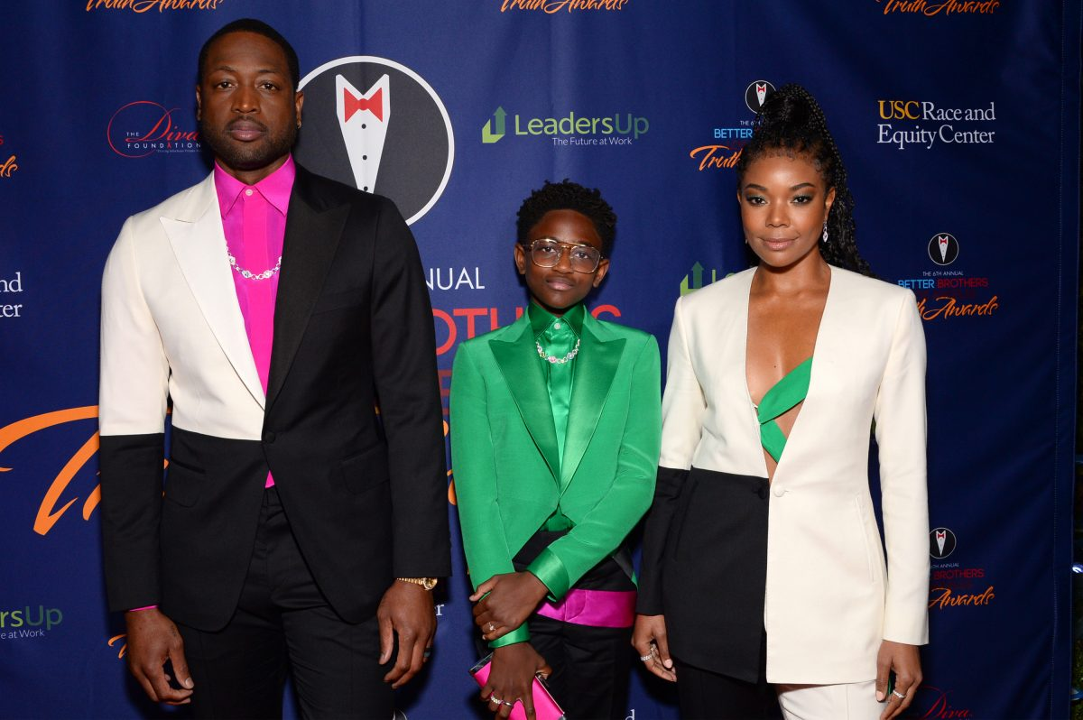 Dwyane Wade, Zaya Wade and Gabrielle Union attend the Better Brothers Los Angeles' 6th annual Truth Awards at Taglyan Complex on March 07, 2020 in Los Angeles, California.