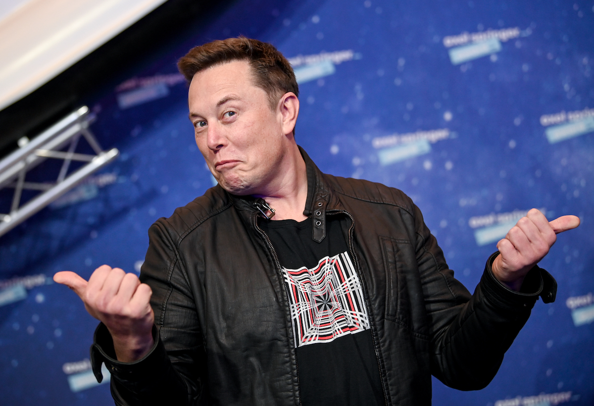 SpaceX owner and Tesla CEO Elon Musk poses on the red carpet of the Axel Springer Award 2020 on December 1, 2020, in Berlin, Germany.