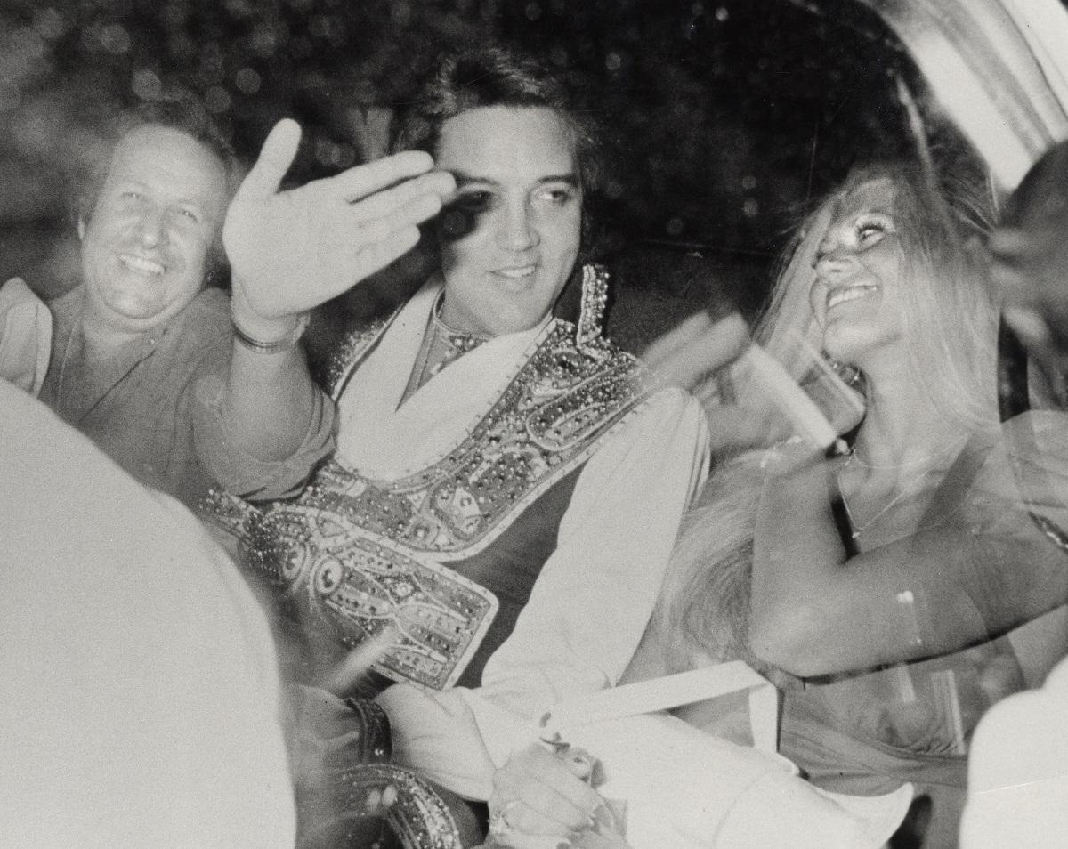 Elvis Presley, Diane Goodman and Joe Esposito