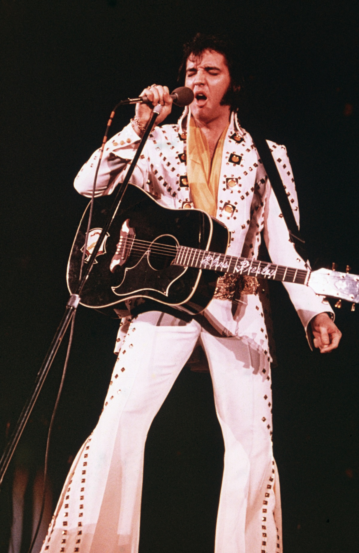 Elvis Presley performing in 1975