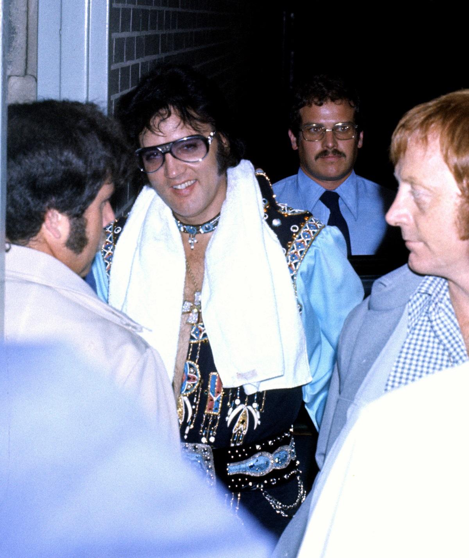 Elvis Presley with bodyguard Red West