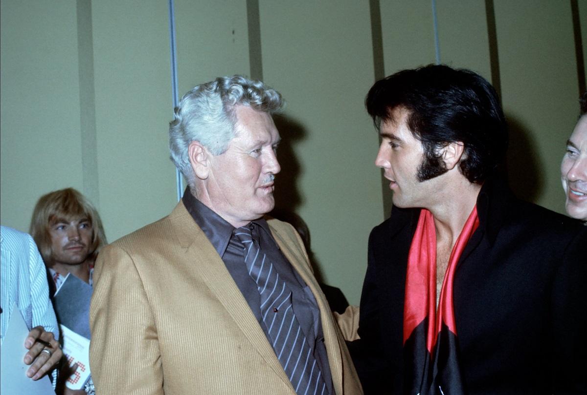 Elvis and Vernon Presley