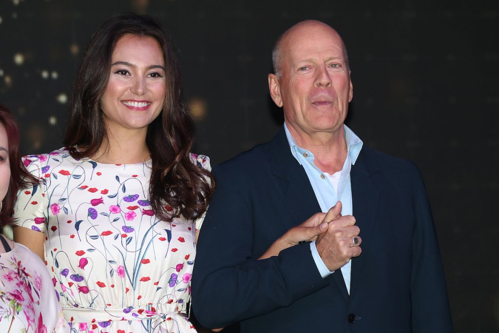 Bruce Willis and his wife American model Emma Heming