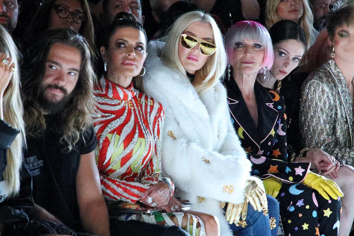 Tom Kaulitz, Lisa Rinna, Erika Jayne, and Maye Musk attend the Jeremy Scott front row during New York Fashion Week