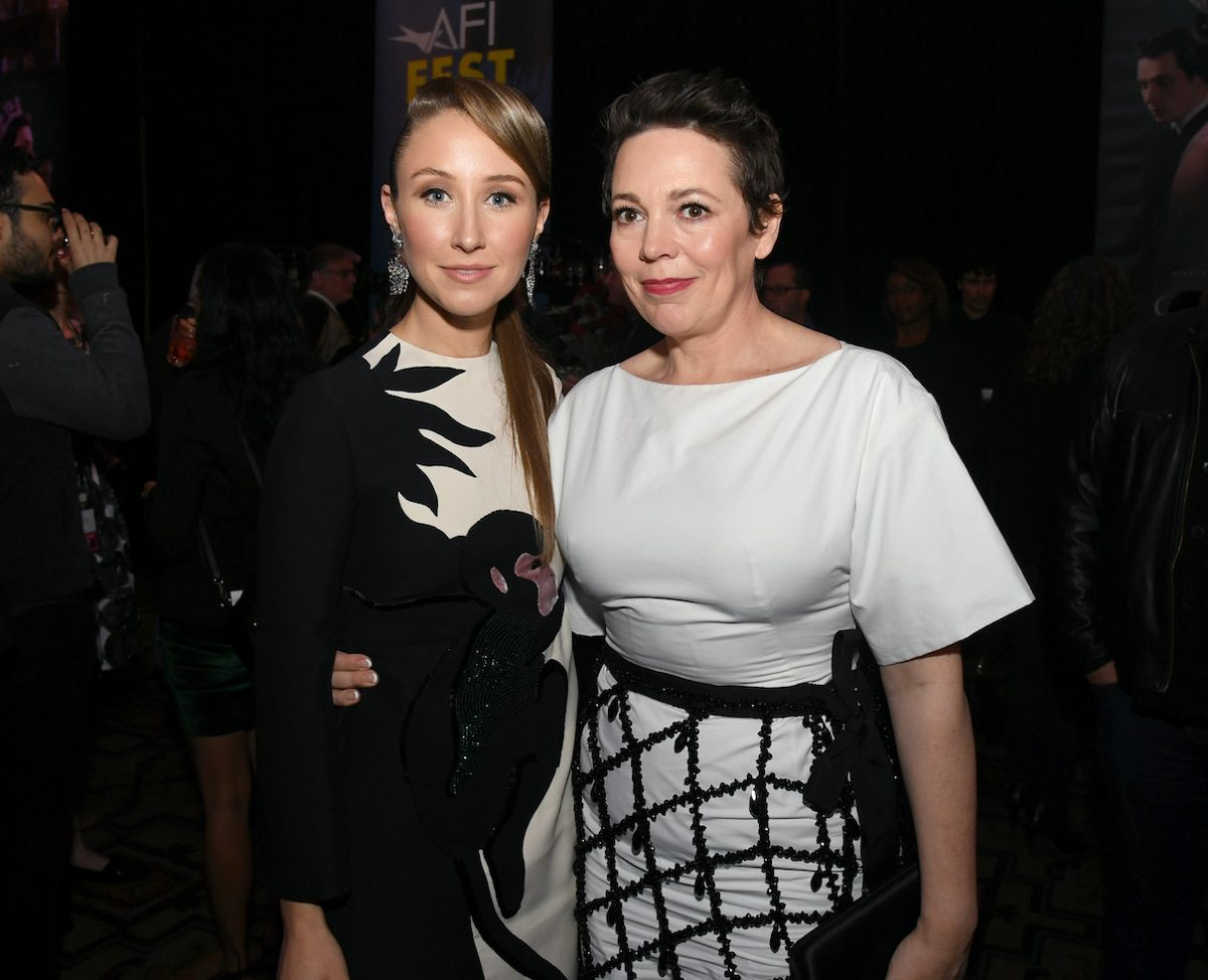 Erin Doherty and Olivia Colman at 'The Crown' after party in 2019
