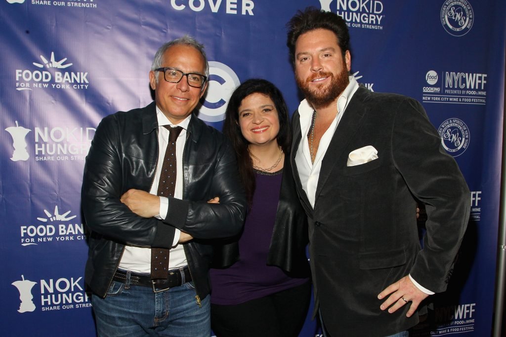 Geofrey Zakarian, Alex Guarnaschelli and Scott Conant attend at event for the Food Network