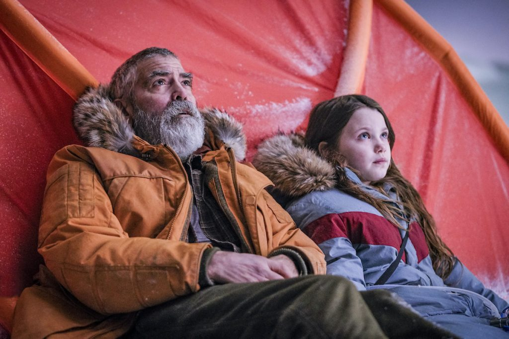 George Clooney and Caoilinn Springall in Netflix's 'Midnight Sky' | Netflix