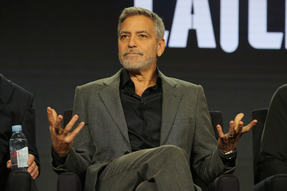 George Clooney of 'Catch 22' speaks onstage during the Hulu Panel during the Winter TCA 2019 on February 11, 2019 in Pasadena, California