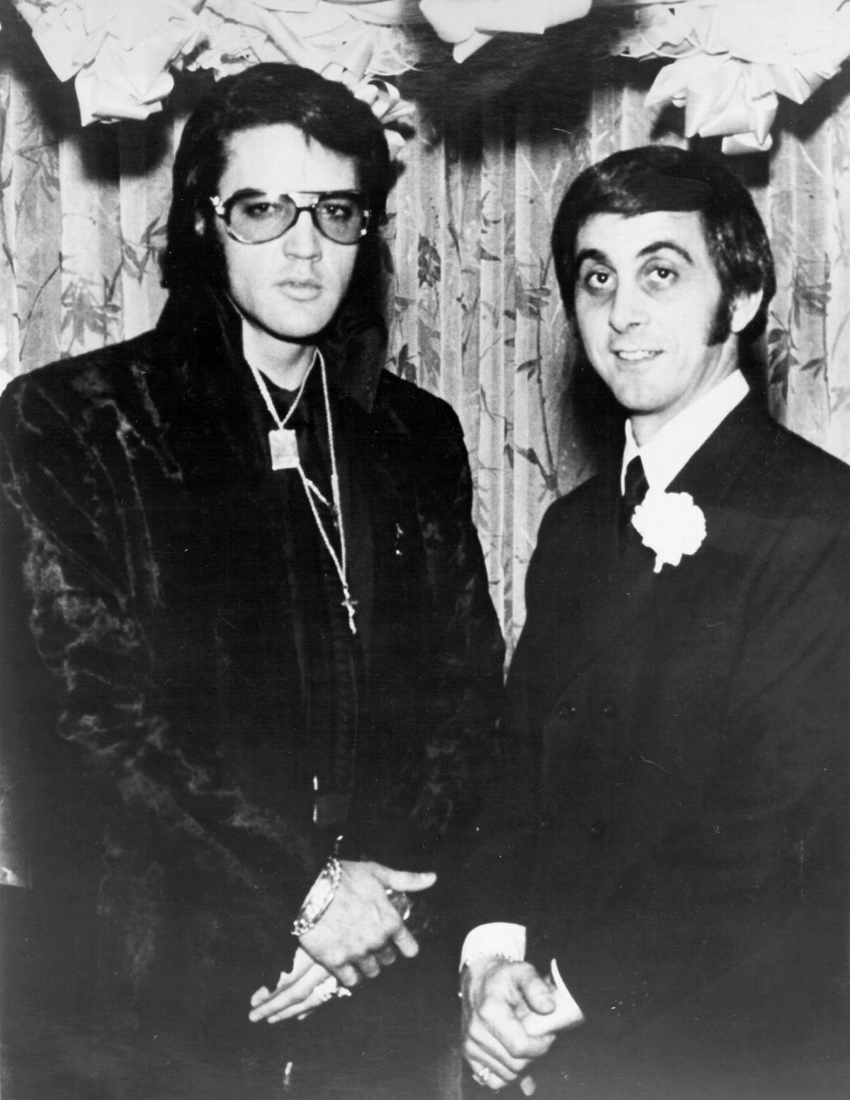 Elvis Presley and George Klein in 1970