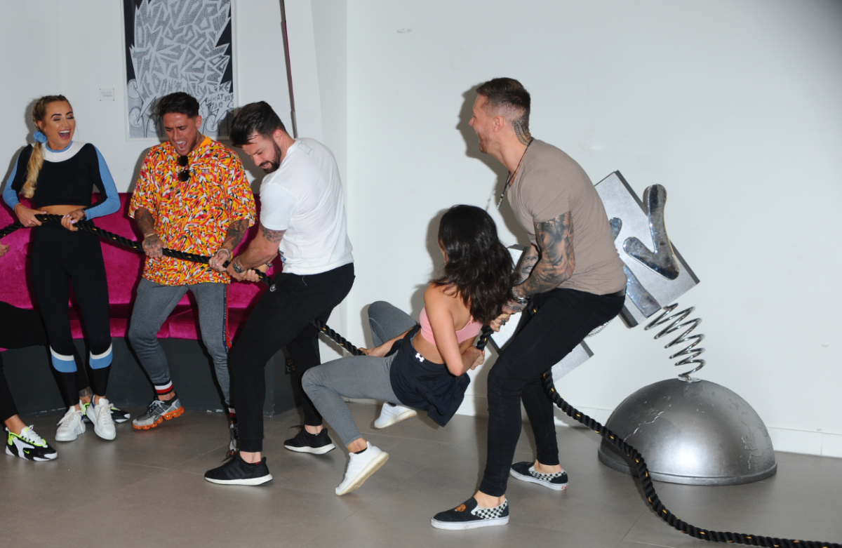 Georgia Harrison, Stephen Bear, Johnny Bananas, Nany Gonzalez and Kyle Christie are seen during the Cast of MTVs brand new series, 'The Challenge: War Of The Worlds'
