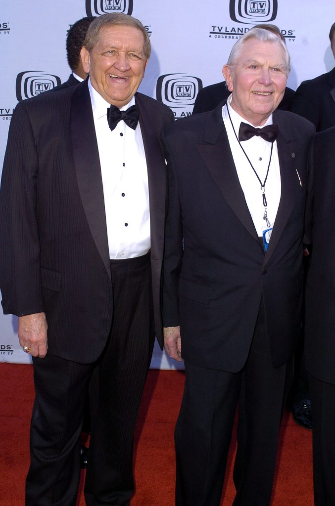 George Lindsey and Andy Griffith in 2004