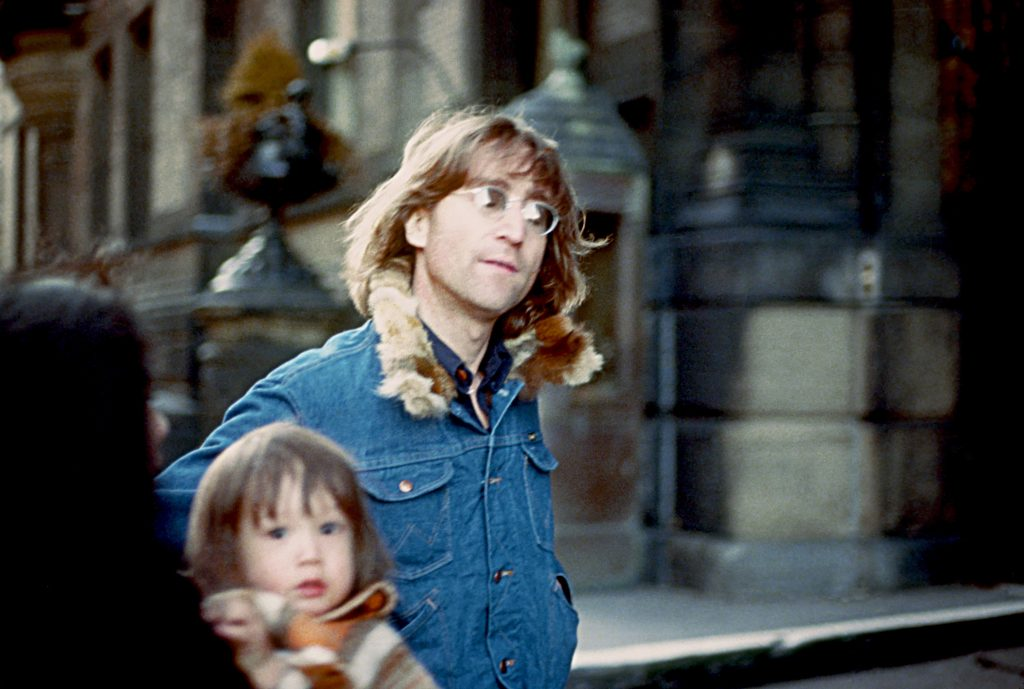 5-year-old Sean Lennon with his father John Lennon in 1977
