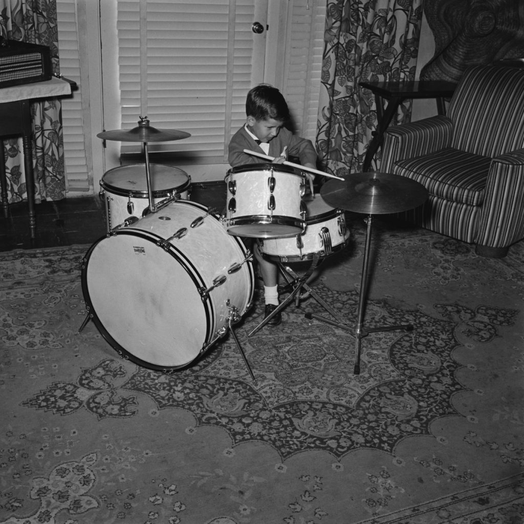 Keith Thibodeaux on the drums, 1955