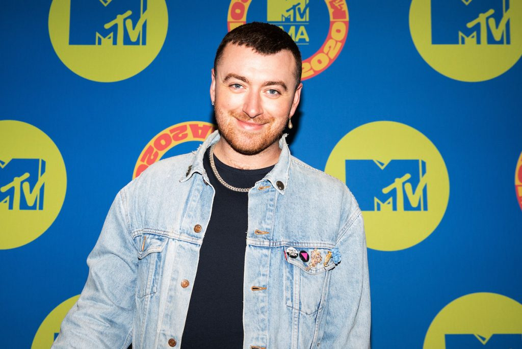 Sam Smith poses at the MTV EMA's 2020 on November 03, 2020 in London, England.
