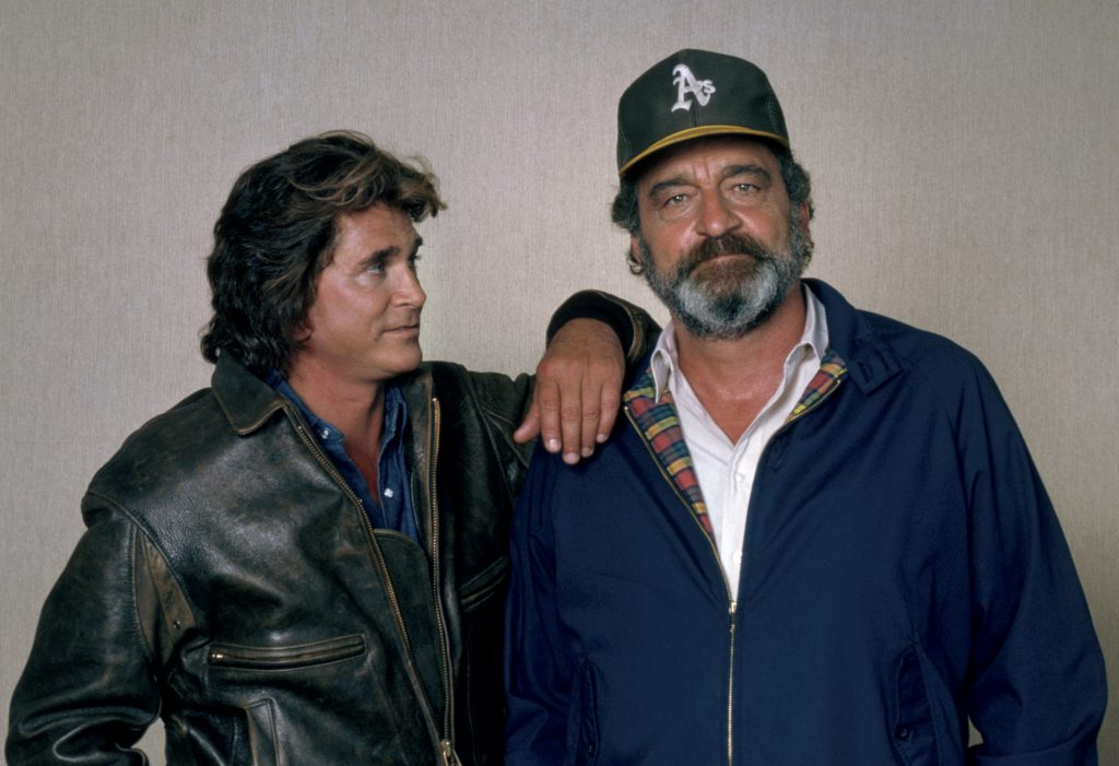 Michael Landon and Victor French