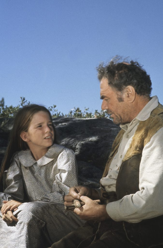 Melissa Gilbert and Ernest Borgnine in a scene from 'The Lord Is My Shepherd'