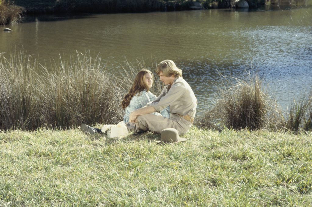 Melissa Gilbert and Dean Butler in a scene from 'Little House on the Prairie', 1979