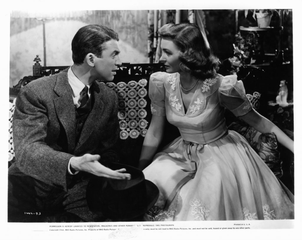 James Stewart and Donna Reed in a scene from 'It's A Wonderful Life,' 1946
