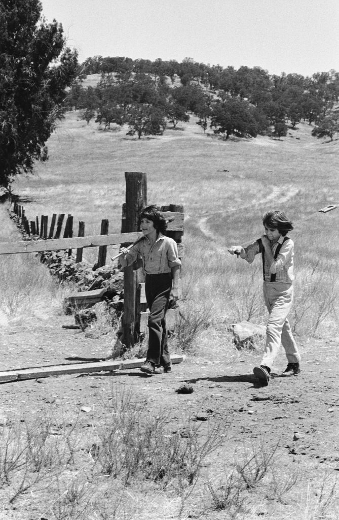 Matthew and Patrick Labyorteaux in a scene from 'Little House on the Prairie'