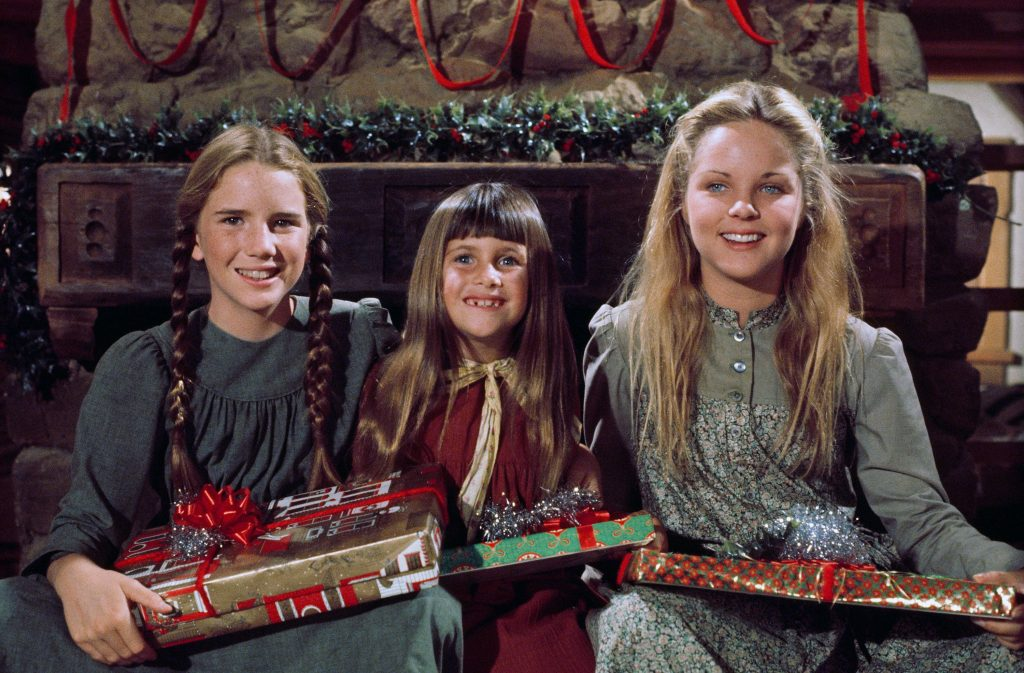 (L - R): Melissa Gilbert, Lindsay or Sydney Greenbush, and Melissa Sue Anderson as Laura, Carrie, and Mary Ingalls on 'Little House on the Prairie'