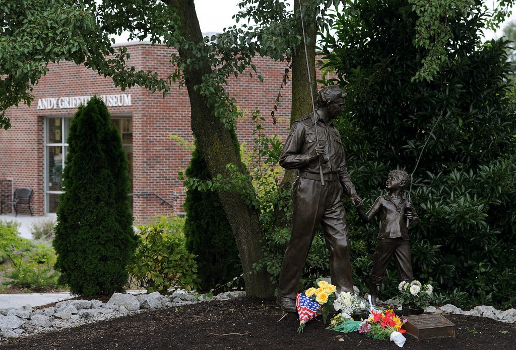 'The Andy Griffith Show' statue in Mount Airy, NC