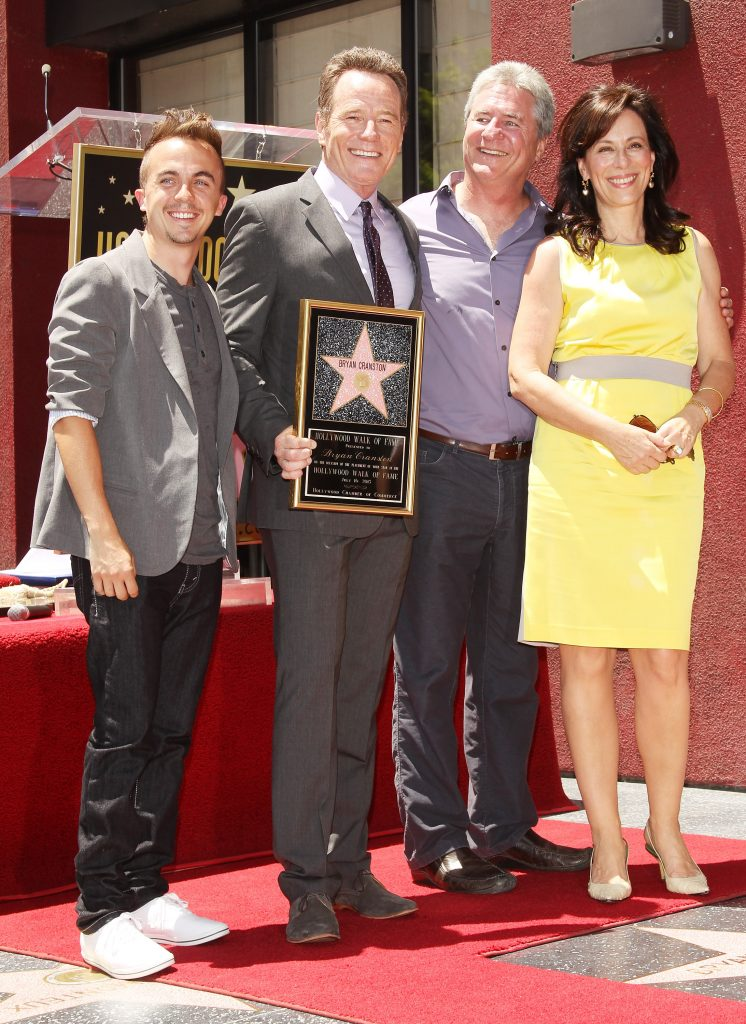 Linwood Boomer (second from right) with 'Malcolm in the Middle' stars Frankie Muniz, Bryan Cranston, and Jane Kaczmarek in 2013