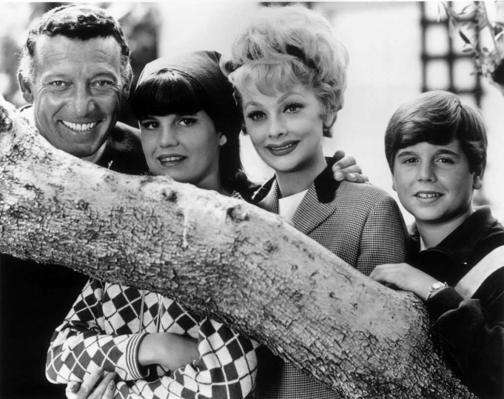 Desi Arnaz Jr, far right, with (from left) Gary Morton, Lucie Arnaz, and Lucille Ball in 1965