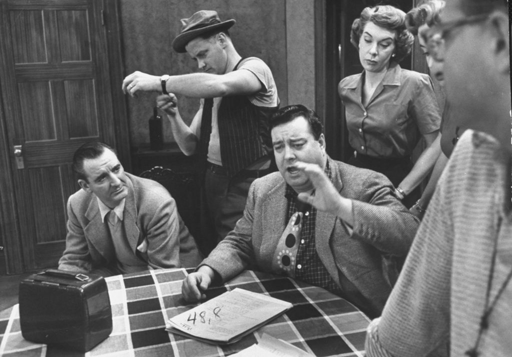 'The Honeymooners' cast during rehearsals