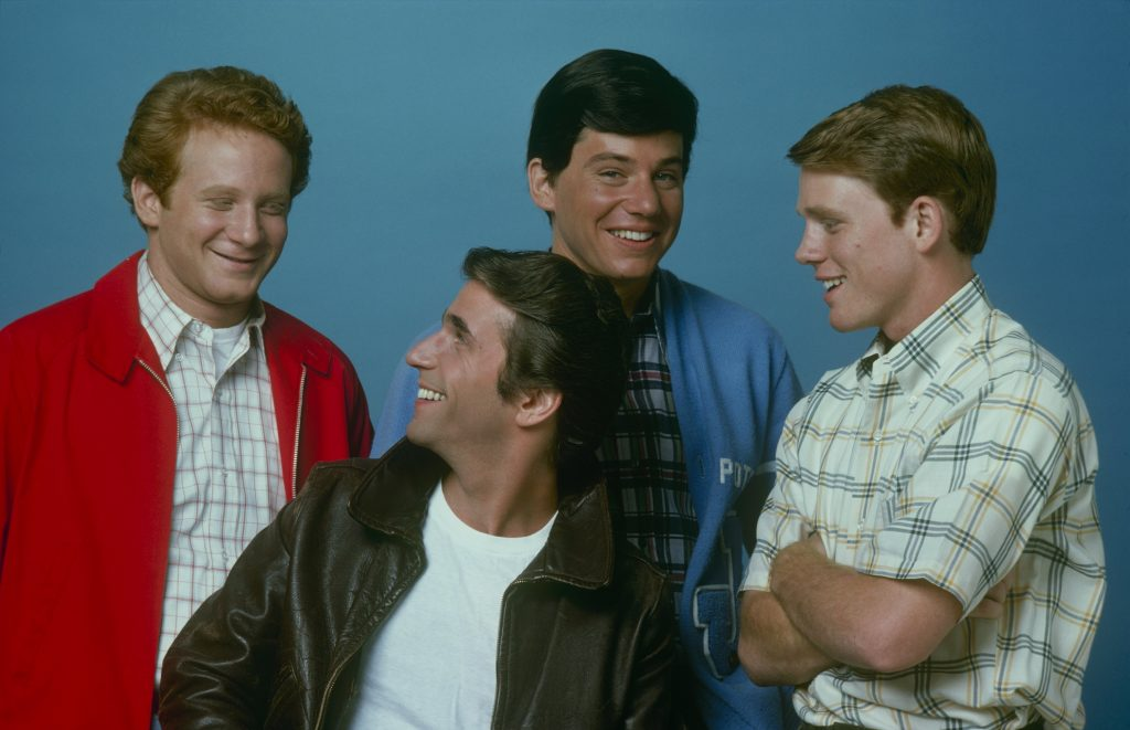 The cast of 'Happy Days', 1975